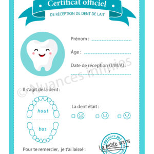 Certificat petite souris
