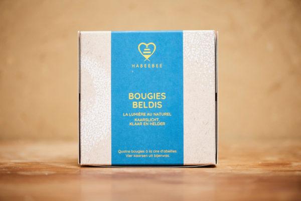 Bougie cire d'abeille bio naturelle belge artisanal savonnerie habeebee bruxelles durable