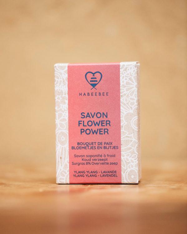 Savon Power Flower naturel bio belge artisanl savonnerie habeebee bruxelles durable