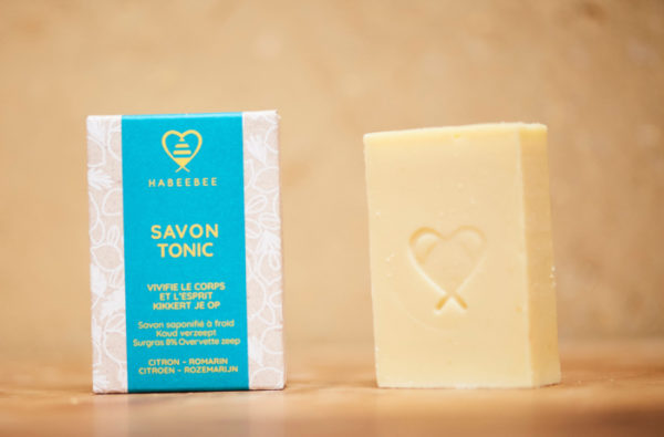 Savon tonic bio belge artisanl savonnerie habeebee bruxelles durable