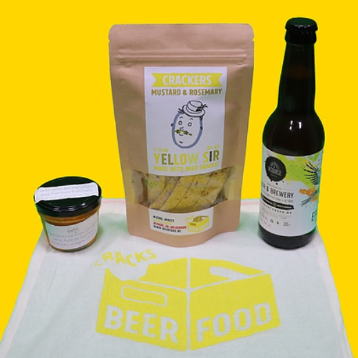 apéro Crackers bio local belge bière Beerfood Pack apéritif
