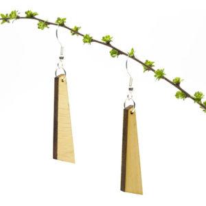WOODSTAG accessoires mode belge local recyclé eco-responsable bruxelles belgique noeuds papillons boucles d'oreilles bois