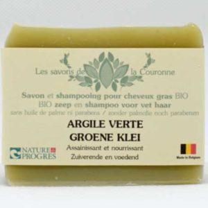 Savon et shampooing à l'Argile verte - Les savons de la Couronne