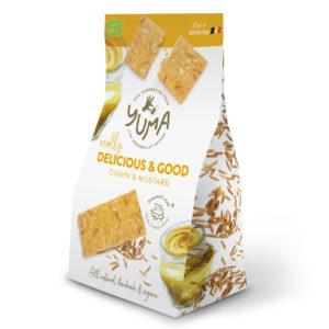 Crackers Cumin & moutarde – Yuma