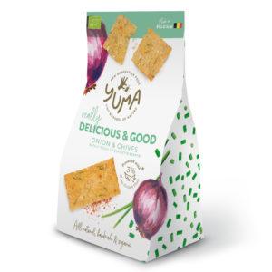 Crackers Oignon, Ciboulette & Espelette – Yuma