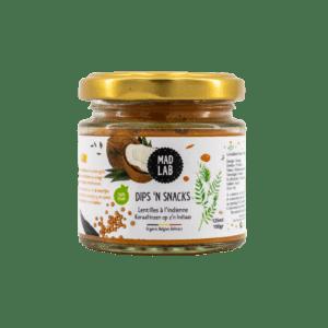 Dips'n Snacks – Lentilles à l'indienne – MAD LAB